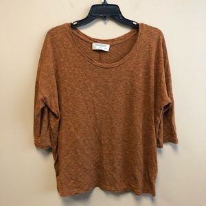 Zara rusty brown loose fit top size M